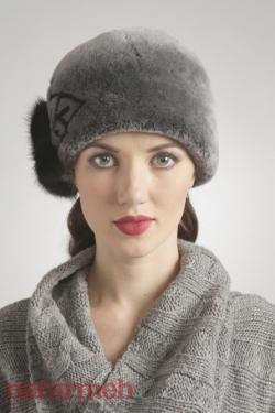 Мутоновая шапка, отделка норка